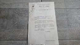 Feuille Convocation Franc Maçonnerie Beyrouth Liban Franc Maçon Lambert 1935 - Tarjetas De Visita