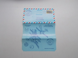 AEROGRAMME POUR LE 5ème VOL SPATIAL FRANCO-SOVIETIQUE MISSION CASSIOPEE AOUT-SEPTEMBRE 1996 - Postal Stamped Stationery