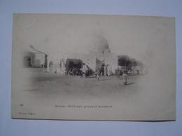 CARTE POSTALE Ancienne : HALLE AUX GRAINS Et MARABOUT / SOUSSE / TUNISIE / AFRIQUE DU NORD - Tunisie