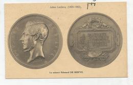 CPA Représentant Des Médailles: Edouard De Biefve Par J. Leclercq - Monnaies (représentations)