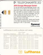 GERMANY - FlyDrive, Lufthansa/Avis(K 628), Tirage 19000, 12/91, Used - Vliegtuigen