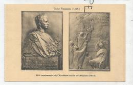 CPA Représentant Des Médailles: 150è Anniversaire De L'Académie Royale De Belgique Par V. Rousseau - Monnaies (représentations)