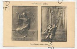 CPA Représentant Des Médailles: Force, Sagesse, Beauté Par V. Rousseau - Monnaies (représentations)