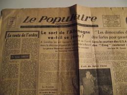 Le POPULAIRE DU CENTRE,  10 Avril 1948, Journal Quotidien Régional Socialiste SFIO - Giornali