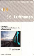 GERMANY - Lufthansa/Frankfurt(K 604 K), Tirage 2000, 12/91, Used - Germania