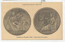 CPA Représentant Des Médailles: Expo Bruxelles 1835, Institut Royal De La Haye Par J-P Braemt - Monnaies (représentations)