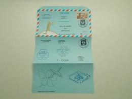 AEROGRAMME POUR LE RALLYE AERIEN DES ANTILLES POINTE A PITRE - Postal Stamped Stationery
