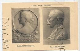 CPA Représentant Des Médailles: Clothilde Kleeberg Et Charles Graux Par C. Samuel - Monnaies (représentations)