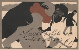 FRANZ LASKOFF  POLONIA  CARTOLINA SERIE MESI 1901  Viaggiata *BELLISSIMA* - Ilustradores & Fotógrafos