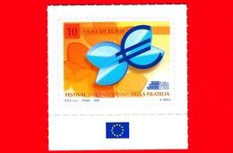 Nuovo - MNH -  ITALIA - 2009 - Giornata Dell'Europa - 10 Anni Di Euro - Festival Filatelia - Etichette Di Fantasia