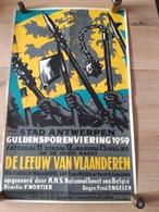 OUDE AFFICHE 1950-1965, STAD ANTWERPEN, GULDENSPORENVIERING 1959, (+/- 30x50cm)), - Affiches