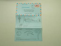 AEROGRAMME POUR LE 60ème ANNIVERSAIRE DE LA 1ère LIAISON PARIS-NEW YORK COSTES ET BELLONTE 2 SEPTEMBRE 1990 - Postal Stamped Stationery