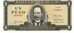 Cuba P.102 1 Peso 1988  Unc - Cuba