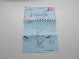 AEROGRAMME POUR LE 41ème SALON INTERNATIONAL DE L'AERONAUTIQUE DE DE L'ESPACE SALON DU BOURGET - Postal Stamped Stationery