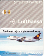 GERMANY - Lufthansa/Business Is Just A Phonecall Away(K 604 E), Tirage 5000, 12/91, Mint - Germania