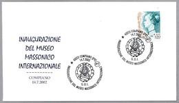 INAUGURACION MUSEO MASONICO INTERNACIONAL - Masonic Museum. Compiano 2002 - Freemasonry