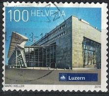 Suisse 2016 Oblitéré Used Railway Station Gare De Lucerne SU - Usados
