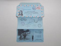 AEROGRAMME POUR LE 6ème RALLYE AERIEN TOULOUSE-ST LOUIS DU SENEGAL SUR LES TRACES DE L'AEROPOSTALE - Postal Stamped Stationery