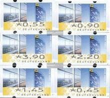 BRD ATM7 Satz TS1 Komplett (0,45,0,55,0,90,1,45,2,20,3,90) Nominale Gestempelt 2008 Automatenmarke - [7] République Fédérale