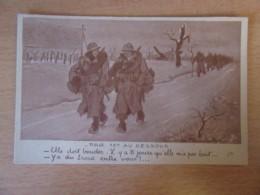 CPA Militaire Humoristique - Par 10° Au Dessous (soldat Discutant) - Carte Illustrateur Signée Fournier FM Non-circulée - Humoristiques