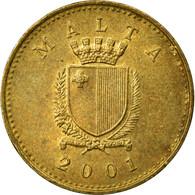 Monnaie, Malte, Cent, 2001, British Royal Mint, TTB, Nickel-brass, KM:93 - Malte
