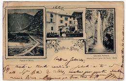 SALUTO DA STORO - TRENTO - Primi '900 - Vedi Retro - Formato Piccolo - Trento