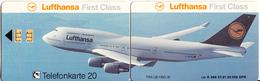 GERMANY - Lufthansa/First Class(K 365), Tirage 20000, 07/91, Used - Vliegtuigen