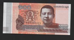 BANCONOTA 100 RIELS CAMBOGIA 2014 - Cambodia