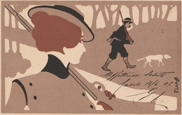FRANZ LASKOFF  POLONIA  CARTOLINA SERIE SPORT  1901  Viaggiata *BELLISSIMA* - Ilustradores & Fotógrafos