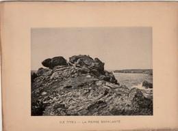VENDEE - ILE D'YEU - La Pierre Branlante - Photogravure  Document Jules Robuchon Fin 19 ème  Format 14x18 - Photos