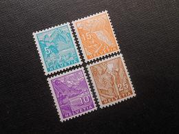 CH ZNr.195*/197*MLH/196**/199**MNH - Landschaftsbilder 1934 - Z CHF 39.00 - Switzerland