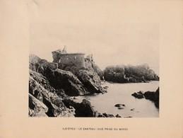 VENDEE - ILE D'YEU - Le Château - Photogravure  Document Jules Robuchon Fin 19 ème  Format 14x18 - Photos