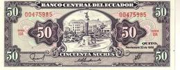 Ecuador P.122 50 Sucres 1988 Unc - Ecuador