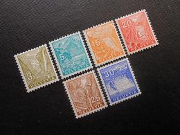 CH ZNr.194*/195*/197*-200*MLH - Landschaftsbilder 1934 - Z CHF 67.75 - Switzerland