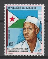 TIMBRE NEUF DE DJIBOUTI - HASSAN GOULED APTIDON, PRESIDENT DE LA REPUBLIQUE N° Y&T 476 - Beroemde Personen