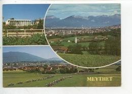 Methet (environs D'Annecy) Multivues  : Générale, Hotel De Ville, Aérodrome Aéroport  (cp N°81/111) - Annecy