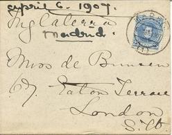 Historia Postal España Carta Madrid - Londres  1909   NL1347 - 1889-1931 Reino: Alfonso XIII