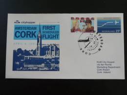Premier Vol First Flight FFC KLM Amsterdam Cork - 1949-... République D'Irlande