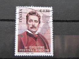*ITALIA* USATI 2004 - 50° FESTIVAL PUCCINI - SASSONE 2768 - LUSSO/FIOR DI STAMPA - 6. 1946-.. Repubblica