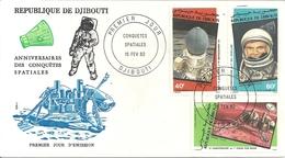 Djibouti Enveloppe FDC Conquètes Spatiales - Djibouti (1977-...)