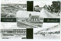 Groeten Uit Zoutelande 1966; Meerluik Met O.a. Strand En Kerk - Gelopen. (J. De Visser & Zn. - Zoutelande) - Zoutelande