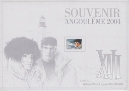 B01-061-1 3233  BD Angoulème Pochette Seule Vide Souvenir   Rare XIII De William Vance (1935) Et Jean Van Hamme Scénar - Herdenkingskaarten