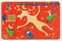 FINLANDE TELE CARIBOU Dessin 10U Neuf 11/97  7 000 Ex - Finlande