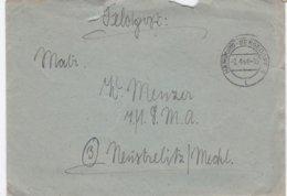 German Feldpost WW2: To 7./. LMA In Neustrelitz/Meckl. P/m Hamburg-Bergedorf 2.4.1944 - Letter Inside  (G99-8) - Militaria