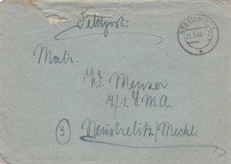 German Feldpost WW2: To 7./. LMA In Neustrelitz/Meckl. P/m Geesthacht 31.3.1944 - Letter Inside  (G99-8) - Militaria
