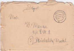 German Feldpost WW2: To 7./. LMA In Neustrelitz/Meckl. P/m Geesthacht 27.3.1944 - Letter Inside  (G99-8) - Militaria