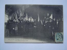 CARTE POSTALE Ancienne : TRAIN ROYAL ROI D' ESPAGNE / GARE DES AUBRAIS - ORLEANS / LOIRET 1905 - Orleans