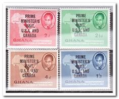 Ghana 1958, Postfris MNH, Prime Minister's Visit U.S.A. And Canada - Ghana (1957-...)