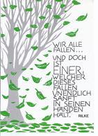 C-033 - Spruchkarte - Von Rilke - Ansichtskarten