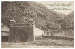 CPA ENVIRONS D'URDOS, LES FORGES D'ABEL, ENTREE DU TUNNEL TRANSPYRENEEN ( COTE FRANCE ), PYRENEES ATLANTIQUES 64 - Ohne Zuordnung